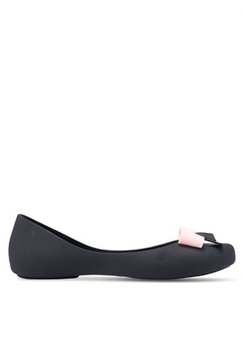 Twenty Eight Shoes black Jelly Bow Ballerinas 508D 9640BSH2682E0EGS_1