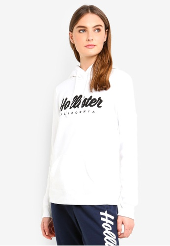 Hollister white Street Tech Core Pullover B26EFAABF468DFGS_1