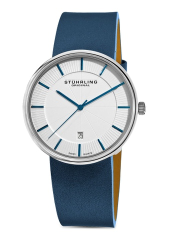Stuhrling Original white and blue Fairmount Watch ST251AC43FPSMY_1