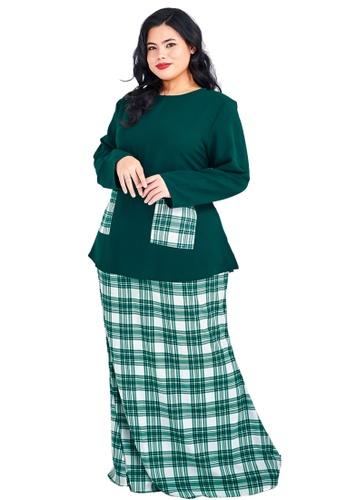 CURVA FABULOUS green Kurung Kedah Plaid 96913AA2E656B1GS_1