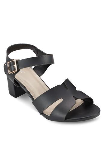 多帶尖沙咀 esprit outlet粗跟高跟涼鞋, 女鞋, 細帶高跟鞋