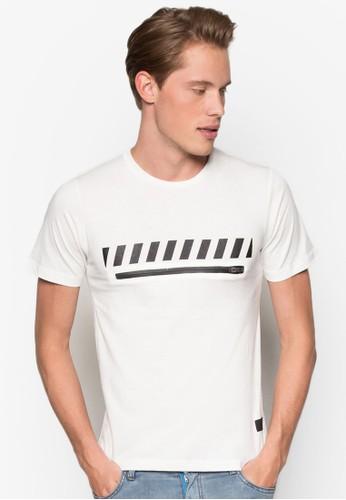 Kebbell 圖案拉esprit台灣門市鍊設計T 恤, 服飾, 服飾