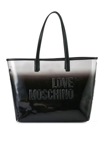 Love Moschino black and white Ombre Logo Tote Bag 022E7AC1EB68B2GS_1
