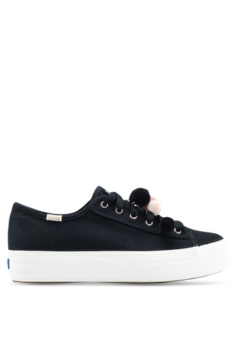 Keds black Triple Kick Pom Pom Sneakers DCD37SH3D516F3GS_1