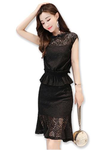 461d8bf491b5f Sunnydaysweety black Black Lace Short Sleeves One Piece Mini Dress  A072430BK SU443AA2UMOQHK_1