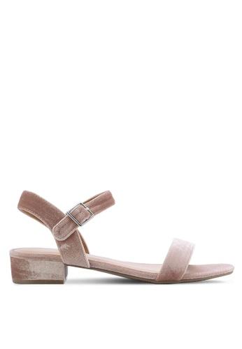 Dorothy Perkins pink Pink Freddie Velvet Sandals DO816SH63THOMY_1