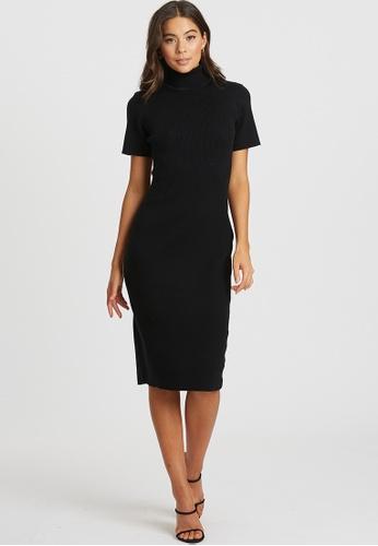 Tussah black Elmani Knit Dress 75DB3AA7C03856GS_1
