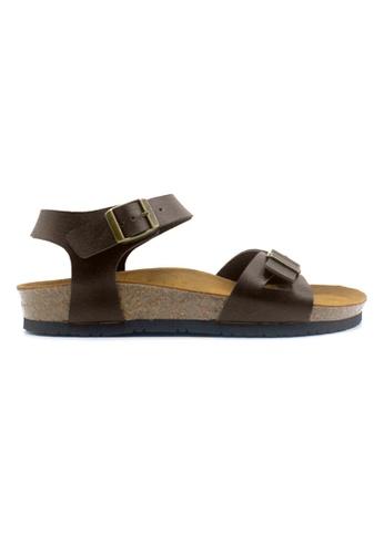 SoleSimple brown Naples - Dark Brown Leather Sandals & Flip Flops 381FASH72B3DD8GS_1