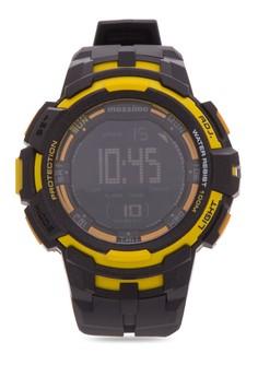 Deep Sea Unisex Rubber Strap Watch MS1602GBLK