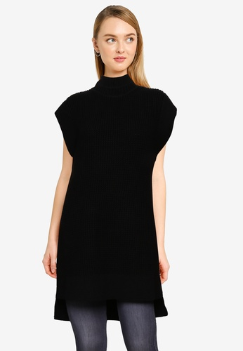 FORCAST black Edith Knitted Tunic 71605AAF4B8246GS_1
