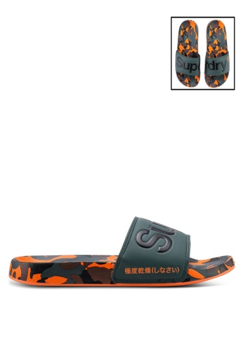 Superdry green Superdry Aop Beach Slides D4EA6SHCE1E105GS_1