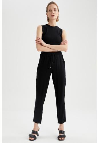 DeFacto black High Waist Viscose Trousers EDBC5AA0A7F429GS_1