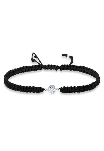Elli Germany white Elli Germany Bracelet Solitaire Knot Textile Swarovski Crystals 925 Sterling Silver 66503AC7BA0233GS_1