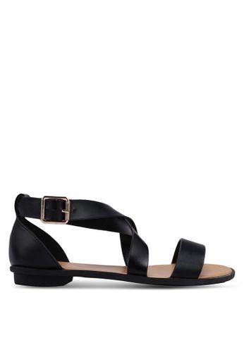 Bata black Strappy Sandals FFE48SH3EA9B77GS_1