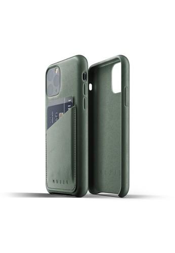 Mujjo green Mujjo Full Leather Wallet Case iPhone 11 Pro Slate Green 4CB64ACE23D83BGS_1