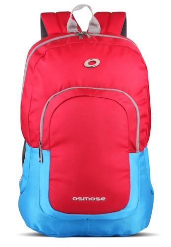 Ozone red Osmose Laptop Backpack 159 Nylon + Raincover - Merah DAE04ACB493DC1GS_1