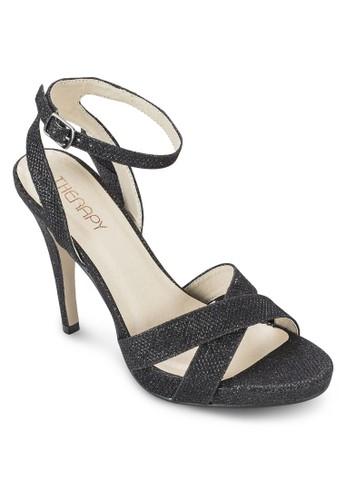 閃飾交叉繞esprit 香港踝高跟鞋, 女鞋, 鞋