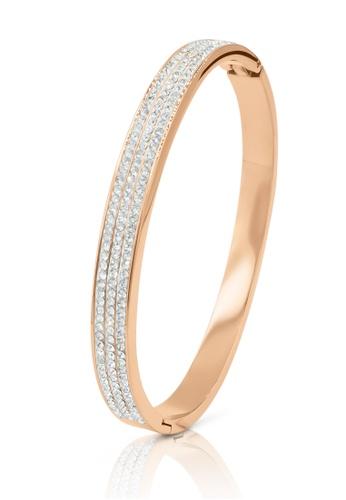 SO SEOUL gold Chentel Triple Row Austrian Crystal Rose Gold Hinged Bangle AA5E0ACCD4C2CAGS_1