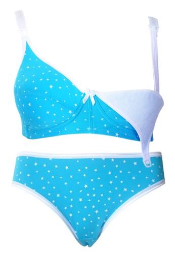 Cynthia blue Cynthia-Star Nursing Bra with Panty-Blue CY646US77VRQID_1