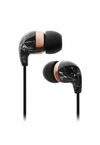 Casetify black In-Ear Black Marble Rose Gold Earbuds 21740ACC655D47GS_1