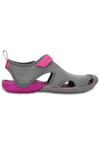 Crocs grey Women's Swiftwater Mesh Sandal Smo CF01CSH82B8D48GS_1