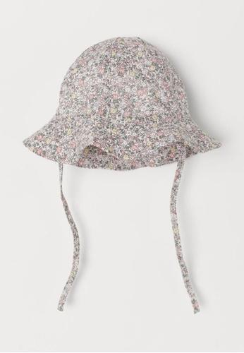 H&M pink and multi Cotton Sun Hat 20617KC52D3548GS_1