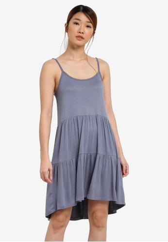 Something Borrowed blue Tiered Babydoll Cami Dress 859C8ZZC9C7BF0GS_1