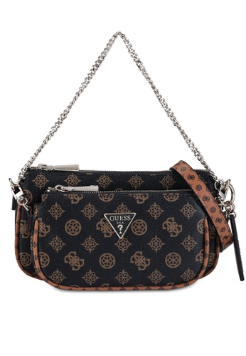 GUESS brown Arie Double Pouch Crossbody Bag 47AE1ACE00474EGS_1