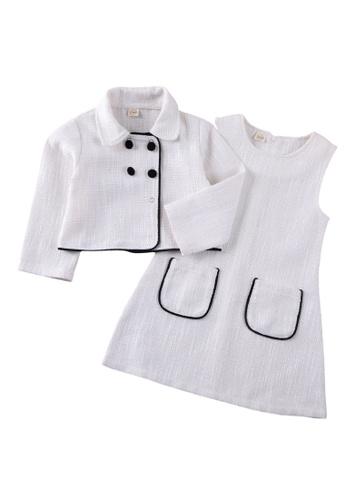 RAISING LITTLE white Carla Dress Set E604AKA6FCAEB4GS_1
