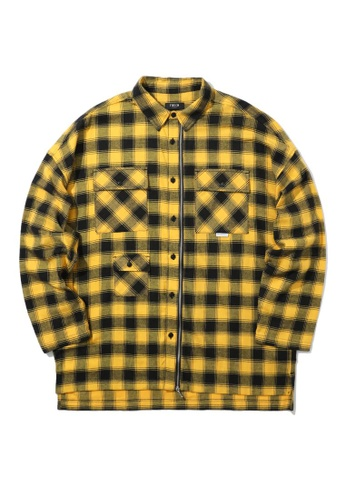 Fivecm yellow Check pocket shirt ACEA4AA087369AGS_1