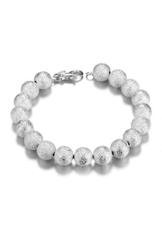 Treasure by B&D H075 Simple Diva Frosted Bead Bracelet