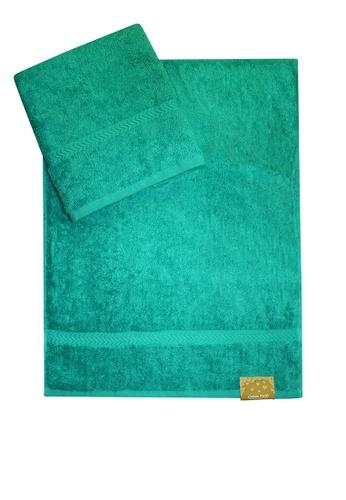 Cotton Fields green Cotton Fields Hand Towel Plain 3E498HLDB2C888GS_1