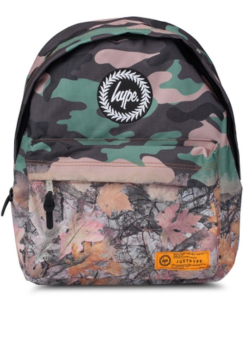 Just Hype green Real Camo Fade Backpack 1DAA4ACC892BC8GS_1