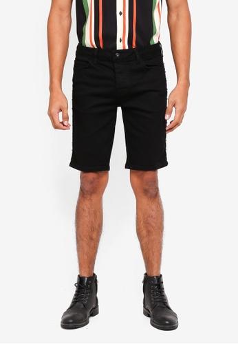 Topman black Black Skinny Shorts 5CCD1AA931F0DDGS_1