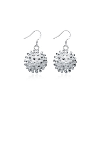 Glamorousky silver Simple Creative Firework Earrings AB2A5AC0F4E140GS_1