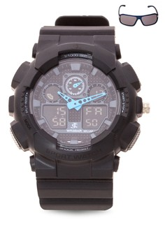 Chronograph Watch With Free Sunglasses JC-H1145C-MB-06