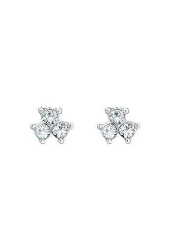 ELLI GERMANY white Earrings Filigree Geo Classic Crystal EL474AC0S1ZKMY_1