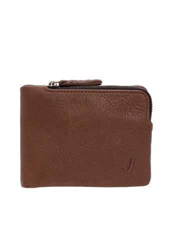 Jack Studio Jack Studio Genuine Pebble Leather Bi-Fold Wallet FDE62ACDE61617GS_1
