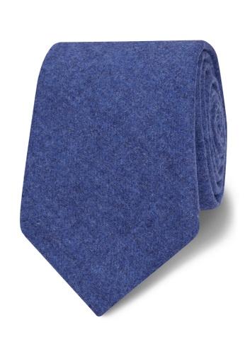 T.M. LEWIN blue T.M.Lewin Barberis Blue Flannel Wool Slim Tie 235ECACAB70068GS_1