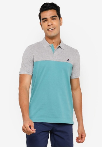 Springfield grey Slim Colour Block Polo Shirt CADB7AA569FF71GS_1