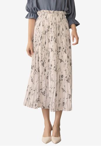Tokichoi white Floral Pleated Skirt 06A7FAA8C61089GS_1