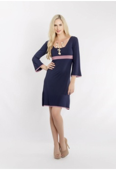 40f48505f8e Zhai eco collection purple and navy Bamboo Two Way Dress 12356AACB31DD5GS 1