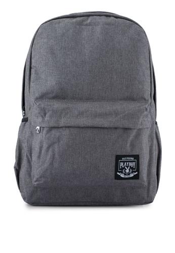 Playboy grey Playboy Casual Backpack PL371AC0SJZBMY_1