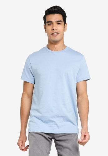 H&M blue Round-Neck T-Shirt Regular Fit A9368AA6CF865EGS_1