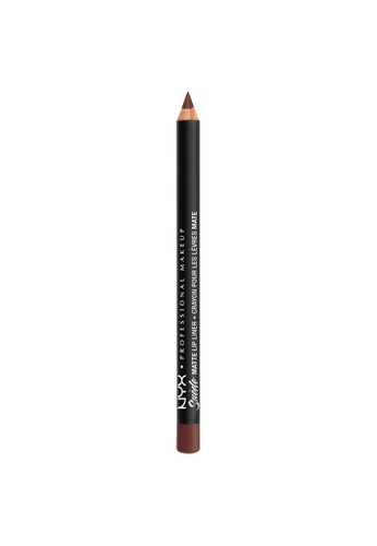 NYX Professional Makeup brown NYX Professional Makeup Suede Matte Lip Liner - SMLL 55 -COLD BREW F3FE2BE4413CB0GS_1