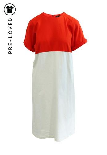 Jil Sander orange Pre-Loved jil sander Orange and White Day Dress 08700AA77DDAEAGS_1