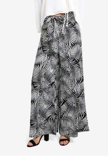ZALORA black Tie Front Trousers 4D4C6AA4716817GS_1