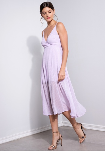 ZALORA OCCASION purple Wrap Cami Dress CB7A2AA14BCBCFGS_1