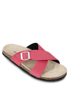 Cross Strap Footbed Sandals