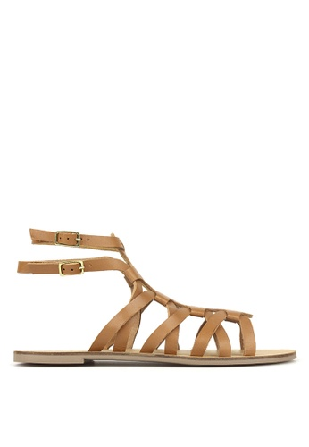 197c7497191c Betts brown Troy Leather Gladiator Sandals C5AD4SHD753414GS 1